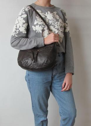 Кожаная сумка next, британия, натуральная кожа