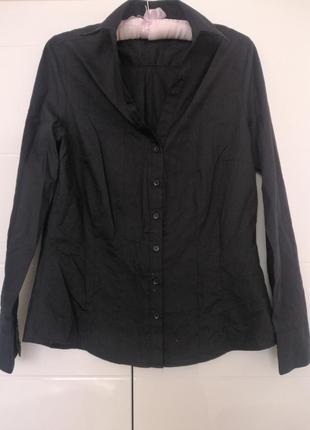 Сорочка рубашка чорного кольору розмір виробника 10 💃