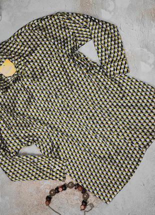 Блуза рубашка модная в принт оригинал missguided uk 12/40/m