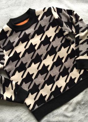 Идеальный теплый стильный школьный плюшевый свитер джемпер 134