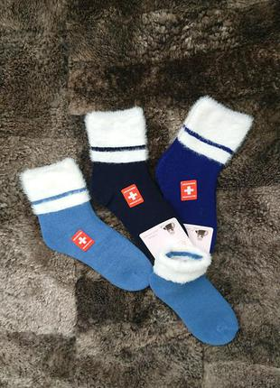 Тёплые уютные шерстяные носочки пушистые премиум с комфортной недавящей резинкой(антиварикоз, ослабленная резинка, медицинские)