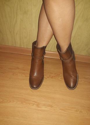 Zara woman оригинал!!!ботильоны из натуральной кожи