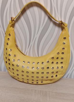 Gianni chiarini кожаная сумка багет италия