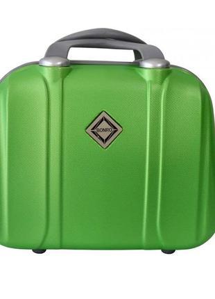Кейс дорожный пластиковый средний xs bonro smile (салатовый / green)