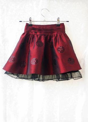 Красивенная юбка из нежной тафты, как новая сзади на резинке на 1,5-5 лет
