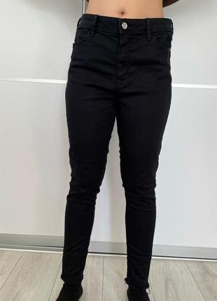 Черные джинсы брюки женские f&f, жіночі чорні штани.