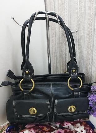 Кожаная сумка laura ashley, британия, натуральная кожа