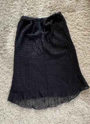 Стильная невесомая  шерстяная юбка benetton m🖤💚