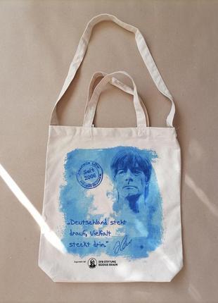 Фирменная сумка шоппер натуральная органическая ткань