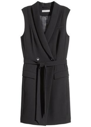 Двубортный жакет - платье без рукава h&m