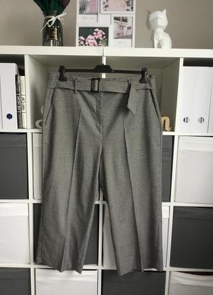 Тёплые широкие брюки в гусиную лапку в батальном размере 4xl-20