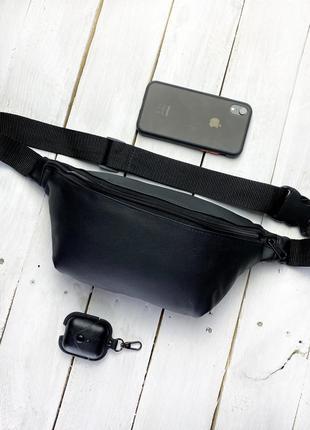 Новая качественная стильна сумка на пояс бананка кожа pu / через плечо / кроссбоди