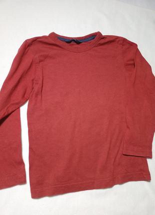 Детский реглан кирпичного цвета. футболка с длинным рукавом. кофта