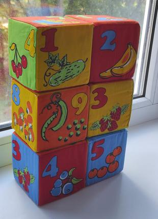 Кубики с цифрами и картинками детские