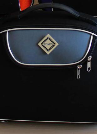 Кейс дорожный тканевый средний xs bonro style (черно-серый / dark gray)