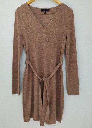 Базовое платье под поясок,прямое платье