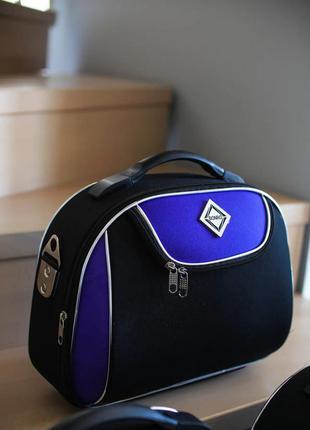 Кейс дорожный тканевый средний xs bonro style (черно-фиолетовый / dark purple)