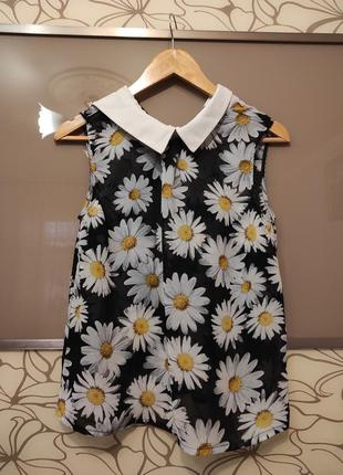 Блуза жіноча в ромашки