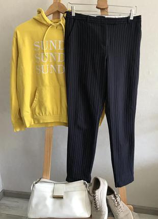 Базові завужені штани в полоску