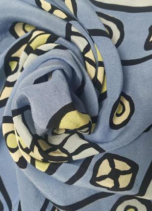 Натуральный шелк, шейный платочек,50*51см