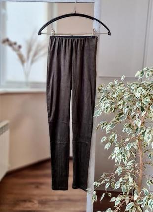 Стильные высокие лосины брюки  под замш 🌺