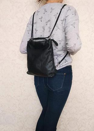 Кожаная сумка, рюкзак boxca, дания, натуральная кожа