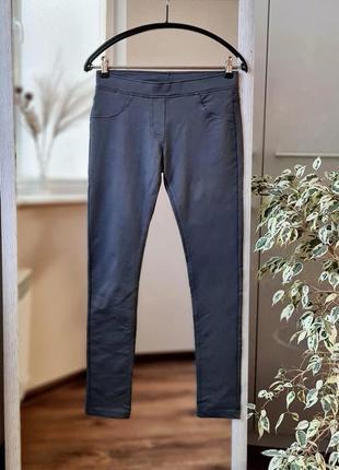 Серые хлопковые лосины  брюки  деми 🌺