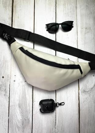 Новая сумка бананка через плечо , на пояс экокожа качественная / багет кроссбоди / клатч слинг