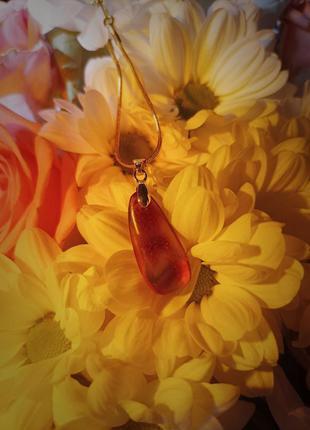 Кулон янтарь бурштин