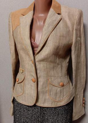 Льнянной пиджак  от известного бренда escada sport