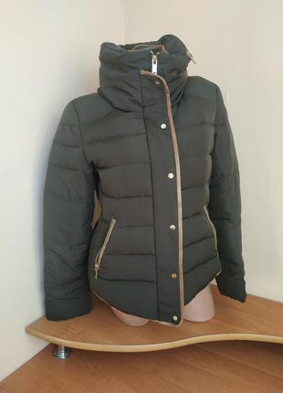 Шикарная пуховая куртка от 🖤zara basic🖤