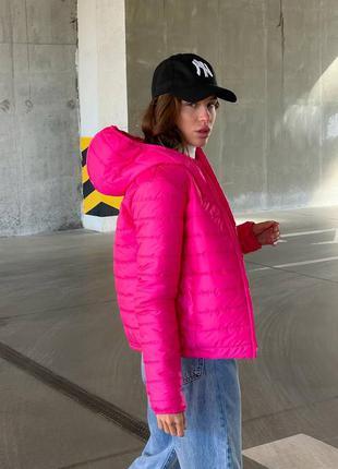Стеганная яркая женская осенняя куртка деми курточка