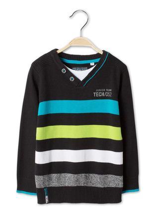 Полосатый свитер с обманкой c&a