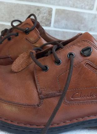 Кожанные туфли clarks 45р