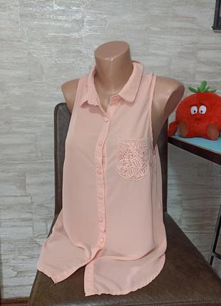 Шикарная,пудровая блуза в идеале!!!