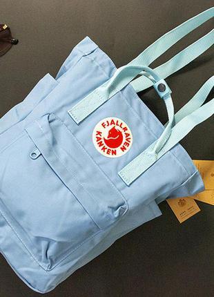 Сумка-рюкзак канкен цвет: голубой
