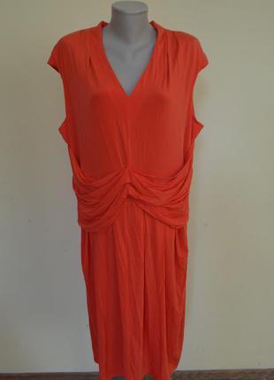 Очень шикарное брендовое вискозное красное платье новое per una