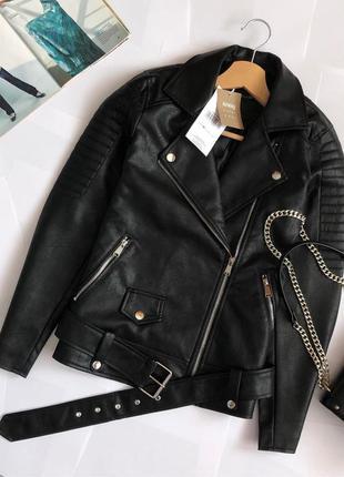 Новая обалденная куртка-косуха с поясом sinsay