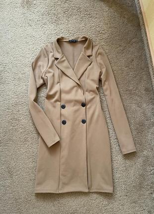 Стильное платье пиджак тёплое