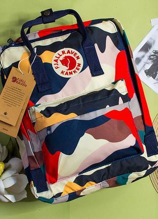 Рюкзак канкен с рисунками цвет: оранжевый комуфляж