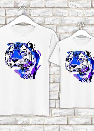 Футболки парные с новогодним принтом синий тигр push it фп007820
