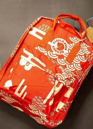 Рюкзак канкен с рисунками цвет: оранжевый