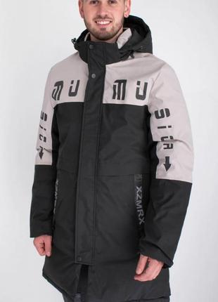Мужская зимняя куртка пальто с капюшоном