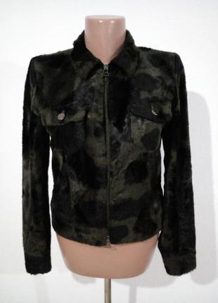 Стильна плюшева курточка жакет під хутро корови  rosner