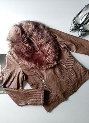 Короткая куртка из кожзаменителя 💖💖💖