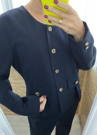 Деловой костюм тройка, винтажный костюм, брендовый костюм miss smith