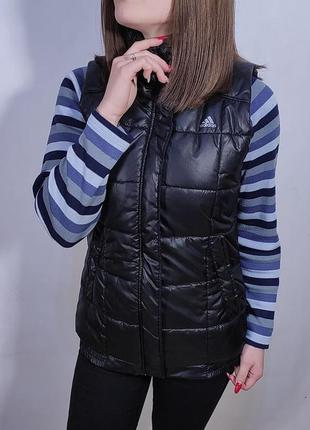 Жилетка adidas entry vest / жилет микропуховик адидас безрукавка