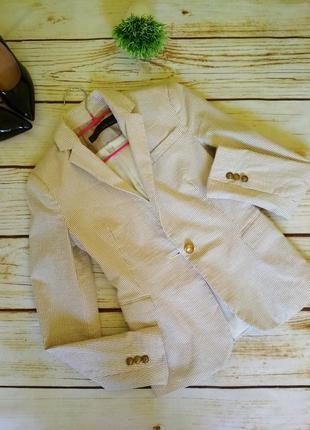 Пиджак жакет зара стильный базовый пиджак в полоску