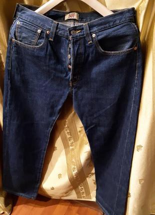 Мужские джинсы levis mens 501 original  на пуговицах