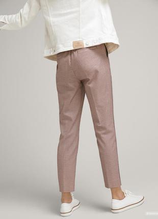 Massimo dutti стильные брюки в клетку в принт гусиная лапки